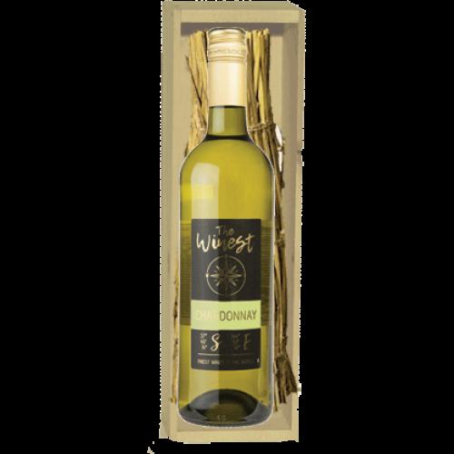 wijnkistje fles chardonnay